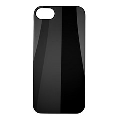 Black Minimalistic Gray Stripes Apple iPhone 5S/ SE Hardshell Case
