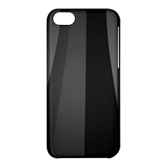Black Minimalistic Gray Stripes Apple iPhone 5C Hardshell Case