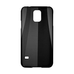 Black Minimalistic Gray Stripes Samsung Galaxy S5 Hardshell Case