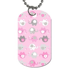 Animals Elephant Pink Cute Dog Tag (Two Sides)