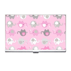 Animals Elephant Pink Cute Business Card Holders