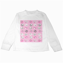 Animals Elephant Pink Cute Kids Long Sleeve T-Shirts