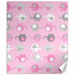 Animals Elephant Pink Cute Canvas 20  x 24