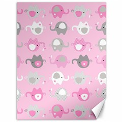 Animals Elephant Pink Cute Canvas 36  x 48