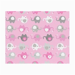 Animals Elephant Pink Cute Small Glasses Cloth (2-Side)