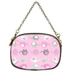 Animals Elephant Pink Cute Chain Purses (One Side)