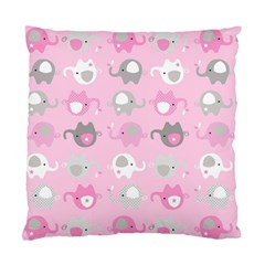 Animals Elephant Pink Cute Standard Cushion Case (Two Sides)