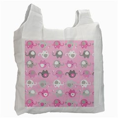 Animals Elephant Pink Cute Recycle Bag (One Side)