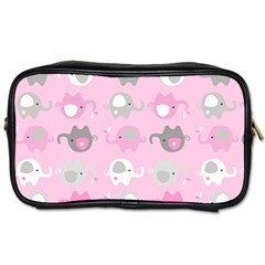 Animals Elephant Pink Cute Toiletries Bags 2-Side