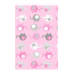 Animals Elephant Pink Cute Shower Curtain 48  x 72  (Small)