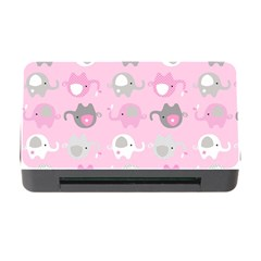 Animals Elephant Pink Cute Memory Card Reader with CF
