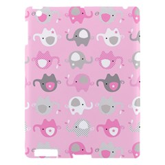 Animals Elephant Pink Cute Apple iPad 3/4 Hardshell Case