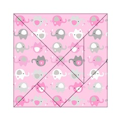 Animals Elephant Pink Cute Acrylic Tangram Puzzle (6  x 6 )
