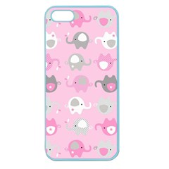 Animals Elephant Pink Cute Apple Seamless iPhone 5 Case (Color)