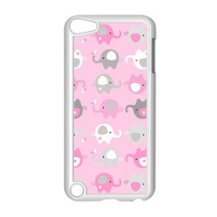 Animals Elephant Pink Cute Apple iPod Touch 5 Case (White)