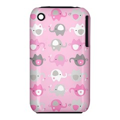 Animals Elephant Pink Cute iPhone 3S/3GS