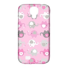 Animals Elephant Pink Cute Samsung Galaxy S4 Classic Hardshell Case (PC+Silicone)
