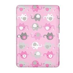 Animals Elephant Pink Cute Samsung Galaxy Tab 2 (10.1 ) P5100 Hardshell Case