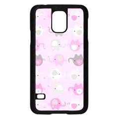 Animals Elephant Pink Cute Samsung Galaxy S5 Case (Black)