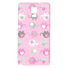 Animals Elephant Pink Cute Galaxy Note 4 Back Case