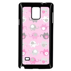 Animals Elephant Pink Cute Samsung Galaxy Note 4 Case (Black)