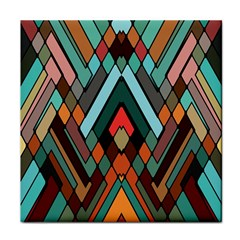 Abstract Mosaic Color Box Tile Coasters