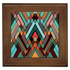 Abstract Mosaic Color Box Framed Tiles