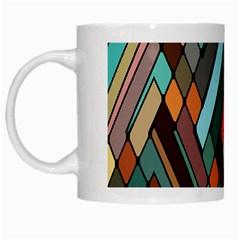 Abstract Mosaic Color Box White Mugs