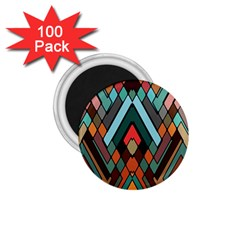 Abstract Mosaic Color Box 1.75  Magnets (100 pack)