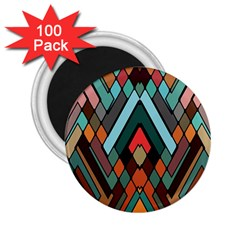 Abstract Mosaic Color Box 2.25  Magnets (100 pack)