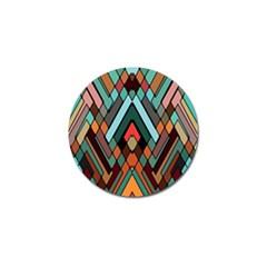 Abstract Mosaic Color Box Golf Ball Marker