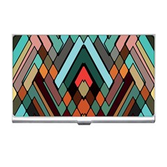 Abstract Mosaic Color Box Business Card Holders