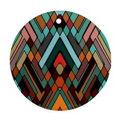 Abstract Mosaic Color Box Round Ornament (Two Sides)