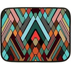 Abstract Mosaic Color Box Fleece Blanket (Mini)