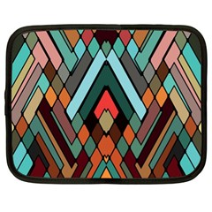 Abstract Mosaic Color Box Netbook Case (XL)