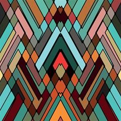 Abstract Mosaic Color Box Magic Photo Cubes