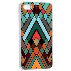 Abstract Mosaic Color Box Apple iPhone 4/4s Seamless Case (White)