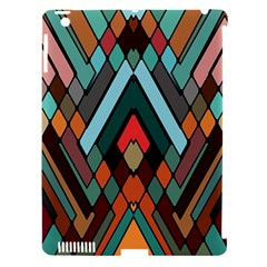 Abstract Mosaic Color Box Apple iPad 3/4 Hardshell Case (Compatible with Smart Cover)