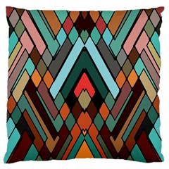 Abstract Mosaic Color Box Large Cushion Case (One Side)