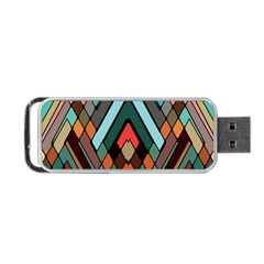Abstract Mosaic Color Box Portable USB Flash (Two Sides)