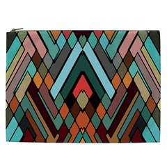 Abstract Mosaic Color Box Cosmetic Bag (XXL)
