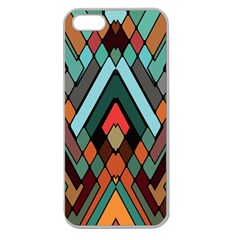 Abstract Mosaic Color Box Apple Seamless iPhone 5 Case (Clear)