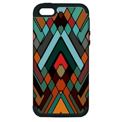 Abstract Mosaic Color Box Apple iPhone 5 Hardshell Case (PC+Silicone)