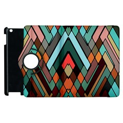 Abstract Mosaic Color Box Apple iPad 2 Flip 360 Case