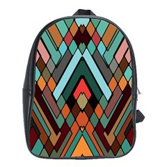 Abstract Mosaic Color Box School Bags (XL)