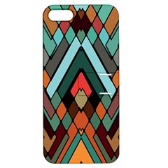 Abstract Mosaic Color Box Apple iPhone 5 Hardshell Case with Stand