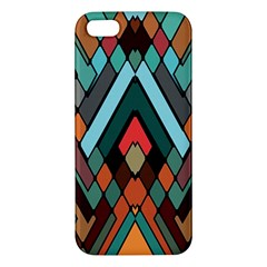 Abstract Mosaic Color Box Apple iPhone 5 Premium Hardshell Case