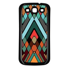 Abstract Mosaic Color Box Samsung Galaxy S3 Back Case (Black)