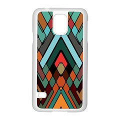 Abstract Mosaic Color Box Samsung Galaxy S5 Case (White)