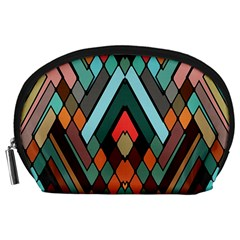 Abstract Mosaic Color Box Accessory Pouches (Large)